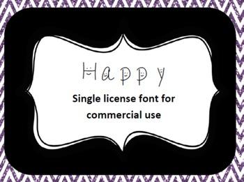 ALIA's Happy font