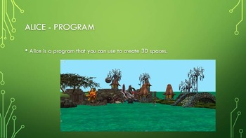 ALICE 3 instructional Video PowerPoint - Biomes & Coding