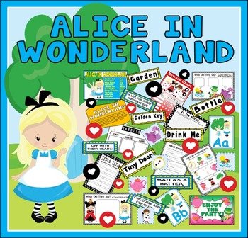 ALICE IN WONDERLAND STORY TEACHING RESOURCES EYFS KS1-2 ENGLISH DISPLAY