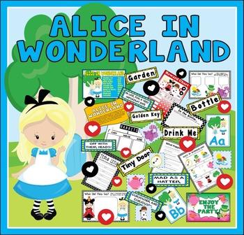 ALICE IN WONDERLAND STORY TEACHING RESOURCES EYFS KS1-2 EN