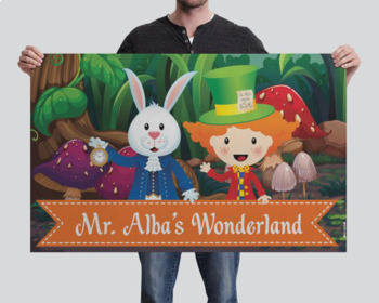ALICE - Classroom Decor: WELCOME Banner - you personalize