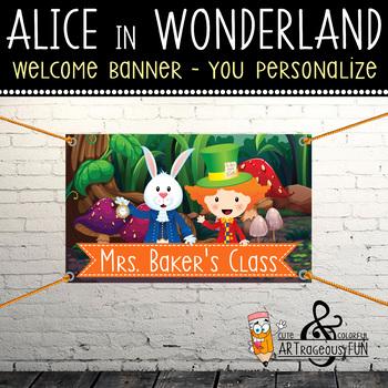 ALICE in WONDERLAND - Classroom Decor: WELCOME Banner - yo