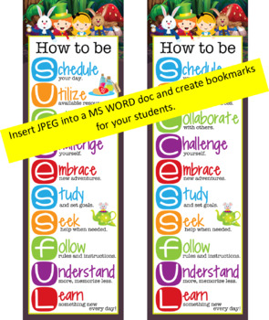 ALICE - Classroom Decor: XLARGE BANNER, How to be Successful