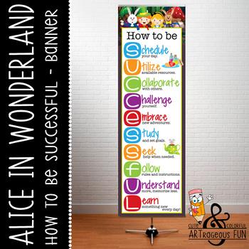 ALICE in WONDERLAND - Classroom Decor: XLARGE BANNER, How