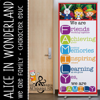 ALICE - Classroom Decor: LARGE BANNER, We Are FAMILY