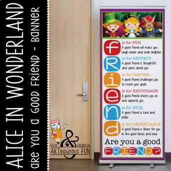 ALICE - Classroom Decor: LARGE BANNER, FRIENDS
