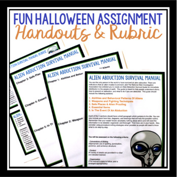 ALIEN HALLOWEEN WRITING ASSIGNMENT