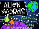 ALIEN WORD SORT - Real / Non-Sense Word Activity