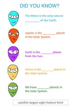 ALIEN WORKSHEET ( Solar System )