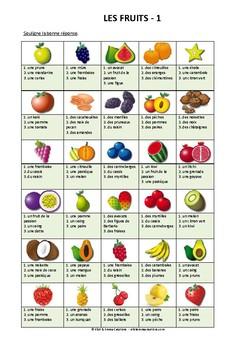 ALIMENTATION - ACTIVITE - LES FRUITS - 1