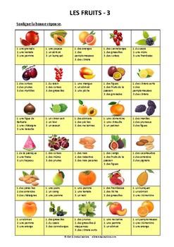 ALIMENTATION - ACTIVITE - LES FRUITS - 3