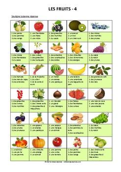 ALIMENTATION - ACTIVITE - LES FRUITS - 4