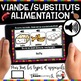 ALIMENTATION Food Groups BOOM Cards - BUNDLE 5 Jeux ( ALIMENTATION)