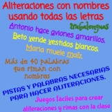 ALITERACIONES - ALLITERATIONS - TRABALENGUAS Y RIMAS