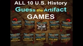 "ALL 10 Middle School U.S. History ""Guess the Artifact"" Games"