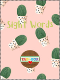 ALL Kindergarten High Frequency Words (Sight Words) Posters – Cactus