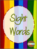 ALL Kindergarten High Frequency Words (Sight Words) Posters-Color of the Rainbow