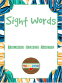 ALL Kindergarten High Frequency Words (Sight Words) Posters – Island Vibes