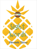 ALL Kindergarten High Frequency Words (Sight Words) Posters – Pineapple