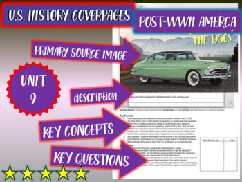 ALL 12 COVERPAGES / STUDY GUIDES for units of U.S. History (to frame each unit)