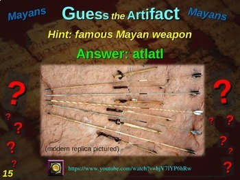 "ALL 12 ""Guess the artifact"" games for 6th grade Ancient Civilizations (History)"