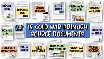 ALL 15 Cold War Primary Sources (each with guiding, text-dependent questions)