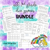 ALL 2nd Grade Go Math! Aligned Dice Games (27 games from C