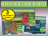 ALL 3 World War Two (WWII) Map Activities 1-NAZI EXPANSION, 2-EUROPE, 3-PACIFIC