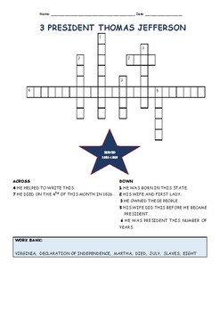 ALL 45 U.S. PRESIDENTS CROSSWORD PUZZLES