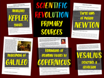 ALL 5 Scientific Revolution Primary Source Documents with