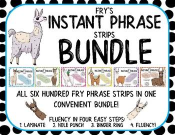 ALL 600 Fry Phrase Strips for Binder Rings BUNDLE!