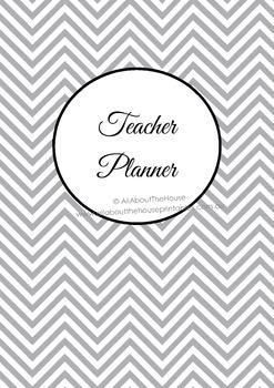 ALL 7 COLORS Printable teacher planner, editable, classroom organizer, lesson