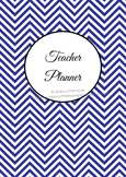 ALL 7 COLORS Printable teacher planner, editable, classroo
