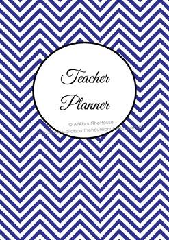 ALL 7 COLORS Printable teacher planner, editable, classroo