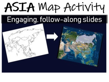 ALL 7 Map Activities (Asia, N/S America, Australia, Africa, Europe, Antarctica)