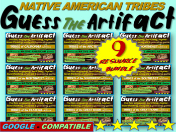 "ALL 9 Native American ""Guess the artifact"" games: PPT w pictures & clues"