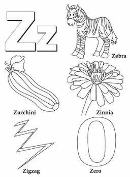 ALL ABOUT ALPHABETS COLOURING PAGES