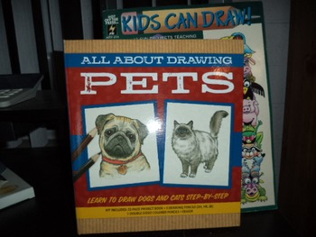 ALL ABOUT DRAWING PETS  KIDS CAN DRAW  (set of 2)