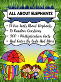 READING COMPREHENSION AND MULTIPLICATION WORKSHEETS-ALL ABOUT ELEPHANTS