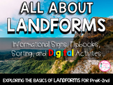 ALL ABOUT LANDFORMS (PreK-2 Informational Signs & More! Print & Digital! )