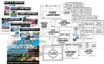 ALL ABOUT LANDFORMS (PreK-2 Informational Signs & More! Print & Digital! )