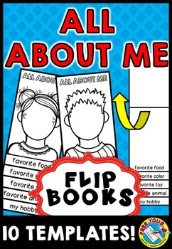 BACK TO SCHOOL ALL ABOUT ME FLIP BOOKS (BEGINNING OF YEAR ACTIVITY KINDERGARTEN)