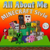 First Day of School Activities:  Minecraft Themed ALL ABOUT ME