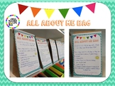ALL ABOUT ME BAG - EDITABLE TEMPLATE