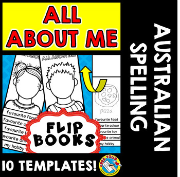 ALL ABOUT ME BOOKS (BACK TO SCHOOL ACTIVITIES) ALL ABOUT ME FLIP BOOKS