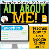 ALL ABOUT ME! Back-to-school activity w/ student tips for