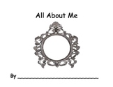 ALL ABOUT ME Book for Pre-K and Kindergarten