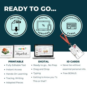 All About Me Personal Information Adapted Book Editable