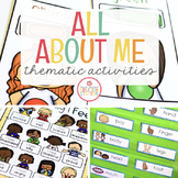 ALL ABOUT ME THEME ACTIVITIES FOR PRESCHOOL, PRE-K AND KINDERGARTEN