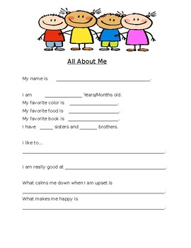 ALL ABOUT ME FORM